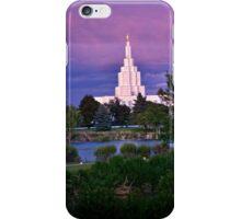 Mormon Temple - Idaho Falls Sunset iPhone Case/Skin