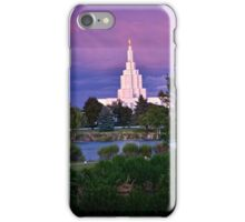Mormon Temple - Idaho Falls Sunset iPhone Case/Skin