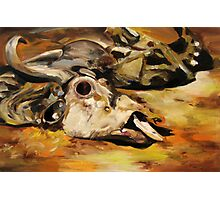 Wildebeest Carcass: Oil Painting Photographic Print