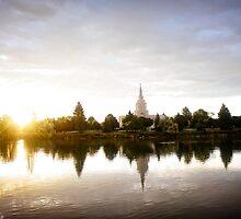 Mormon Temple - Idaho Falls Sunrise by IMAGETAKERS