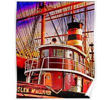 The Tug Boat Helen McAllister Poster