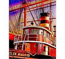 The Tug Boat Helen McAllister Photographic Print