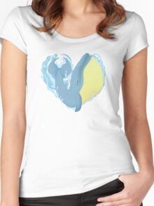 Whale Love Women's Fitted Scoop T-Shirt