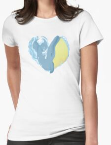 Whale Love Womens Fitted T-Shirt