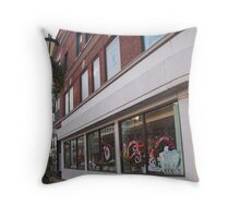 Holiday Windows in Oak Park Throw Pillow