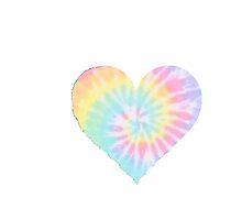 Pastel Tie Dye Heart by sphlegar