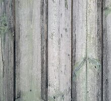 Fragment of an old wooden fence by vladromensky