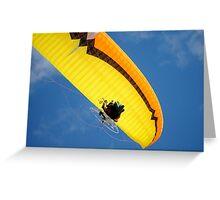 Yellow Paraglider Greeting Card