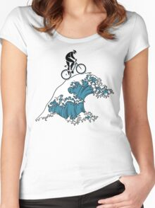 Bike Cycling Bicycle  Women's Fitted Scoop T-Shirt
