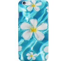 Frangipani flower in the swimming pool iPhone Case/Skin
