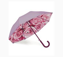 Pink umbrella with roses One Piece - Short Sleeve