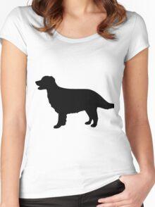 Golden Retriever Dog Women's Fitted Scoop T-Shirt