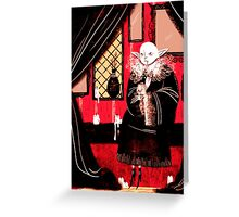 Vampire Sitting Greeting Card