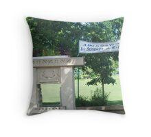 Oak Park Bubbler Throw Pillow