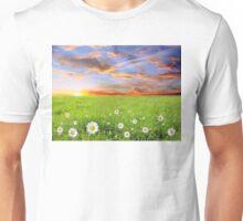 Margarite Field at Sunset in Bulgaria Unisex T-Shirt