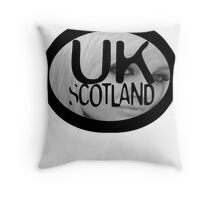 uk scotland card with stephanie by ian rogers Throw Pillow
