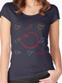 An apple and seven hats Women's Fitted Scoop T-Shirt