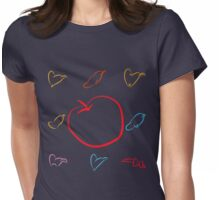 An apple and seven hats Womens Fitted T-Shirt