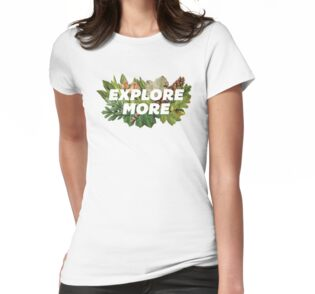 'Explore More' Women's Fitted Scoop T-Shirt by Shawna Armstrong