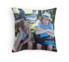 Summer Travelers Throw Pillow