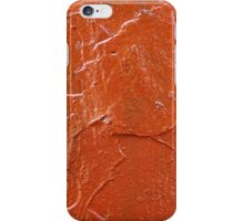 Thick and uneven layer of red paint on a wall closeup iPhone Case/Skin