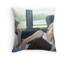 Traveling Companions Throw Pillow