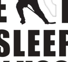 Eat Sleep Play Hockey Sticker