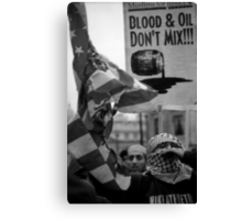 Blood and Oil Canvas Print