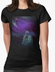 Stand by me-wall art+Products Design Womens Fitted T-Shirt