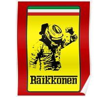 Kimi Raikkonen Ferrari Badge Poster