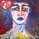 girl with rose by Thelma Van Rensburg