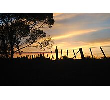 Sunrise Near Kerang Photographic Print
