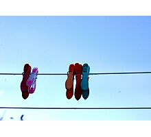 Washing Line Pegs Photographic Print