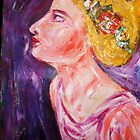 girl with flowers by Thelma Van Rensburg