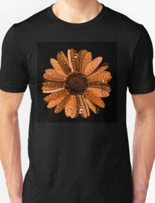Orange flower with water drops Unisex T-Shirt