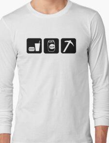 Eat Drink Beer Rockhound Long Sleeve T-Shirt