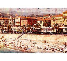 city beach in Nice Photographic Print