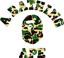 a bathing ape camo military Photographic Print