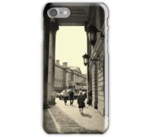 Dublin street scene iPhone Case/Skin