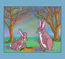 Distracted Easter Bunnies by Audra Lemke