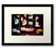Mixed Media Art Collage 10 Framed Print