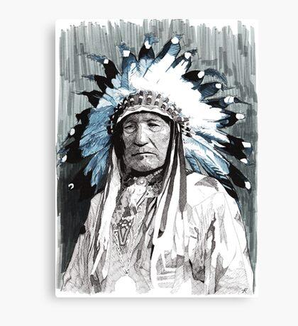 Native American Chief Canvas Print