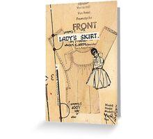 ladies skirt, 2010 Greeting Card