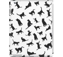 Black Cats - White BG iPad Case/Skin