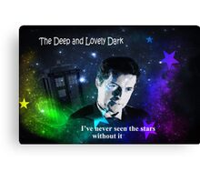 Doctor in the Dark Canvas Print