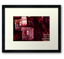 Industrial Textures Mixed Media 6 Framed Print