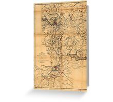 Civil War Richmond and Petersburg Map (1865) Greeting Card