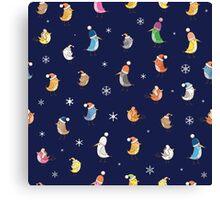 Pattern with birdies. Canvas Print