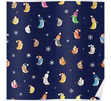 Pattern with birdies. Poster