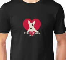Bull Terrier Love Unisex T-Shirt